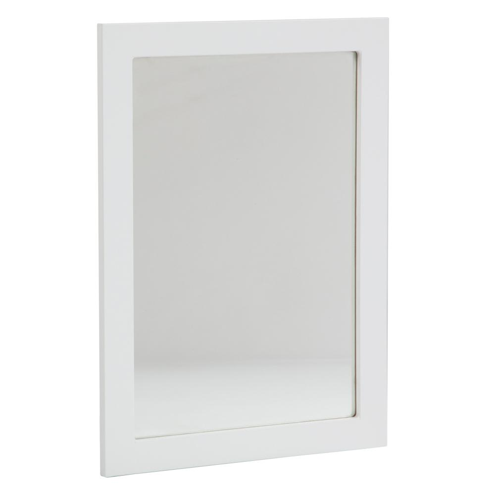 Glacier bay lancaster 20 in x 27 in framed wall mirror for White framed mirror