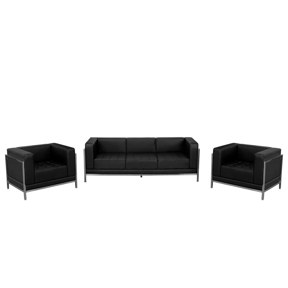 3-Piece Black Living Room Sets