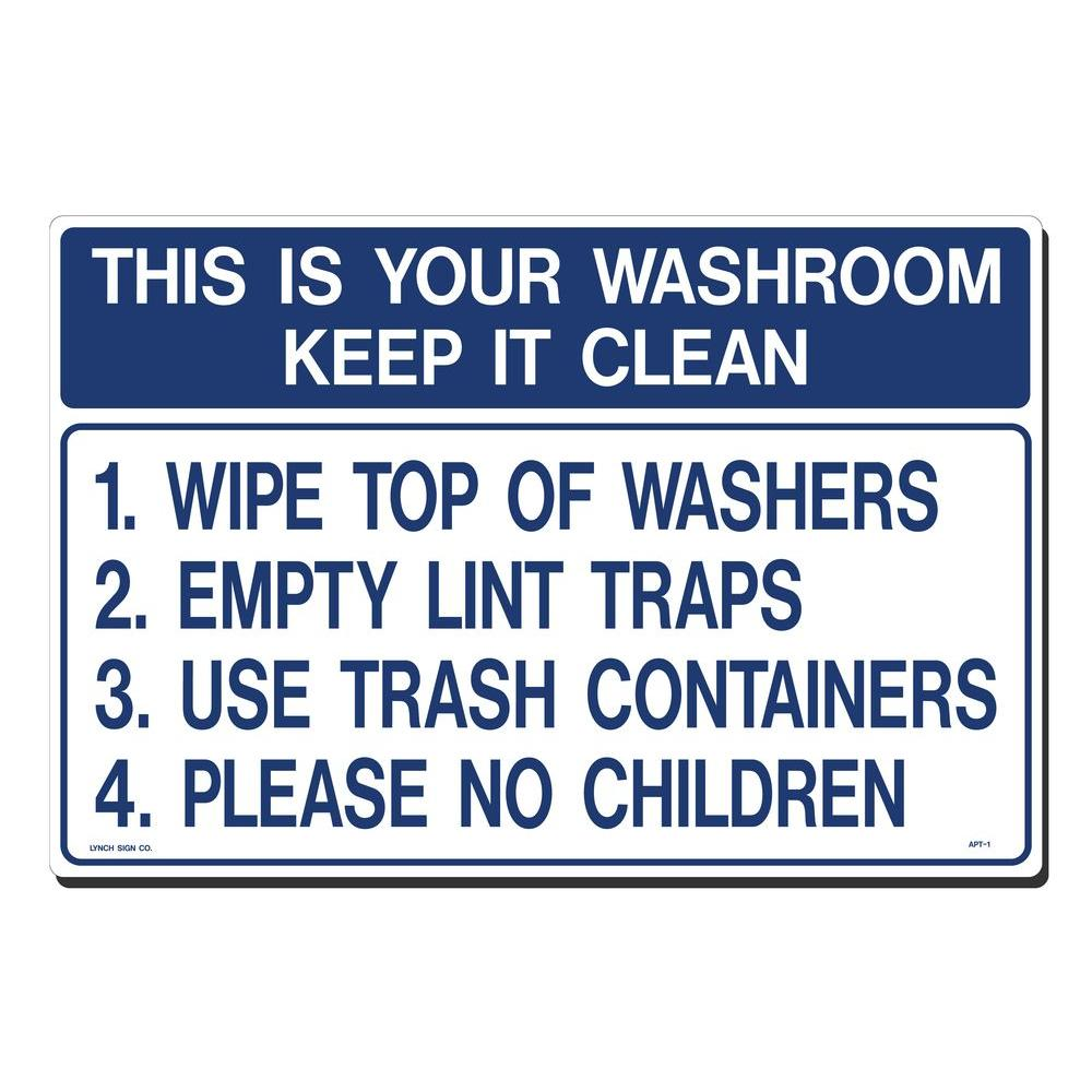 18 in. x 12 in. Wash Room - Keep It Clean