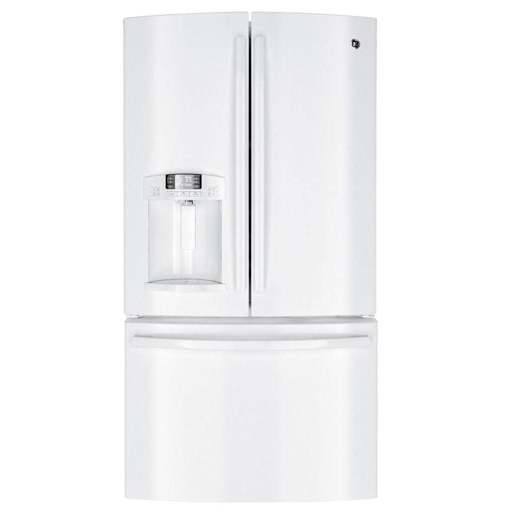 GE 27.7 cu. ft. French Door Refrigerator in White