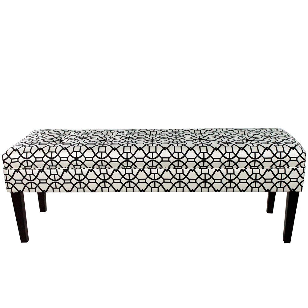 Kaya Noah Windsor Button Tufted Upholstered Bench