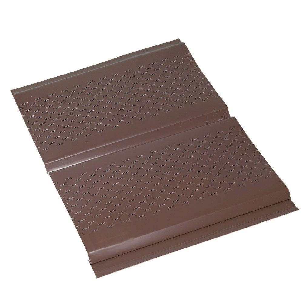 Amerimax Home Products 12 in. x 12 in. Brown Aluminum Vented Soffit