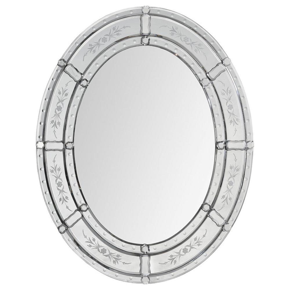 Ren-Wil Luna 30 in. x 24 in. Transitional Framed Mirror