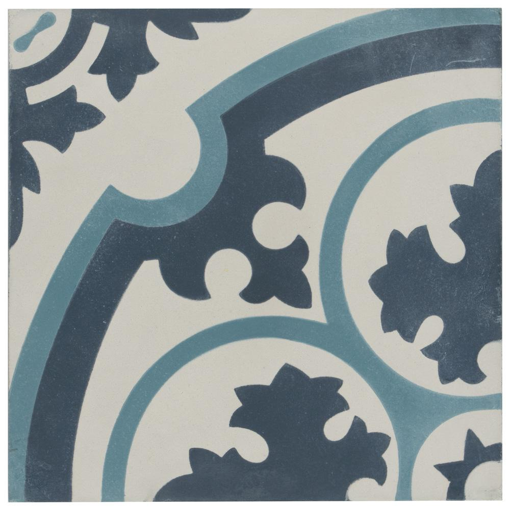 008cc12d8a Merola Tile Cemento Queen Mary Sky Encaustic 7-7 8 in. x 7-7 8 in ...