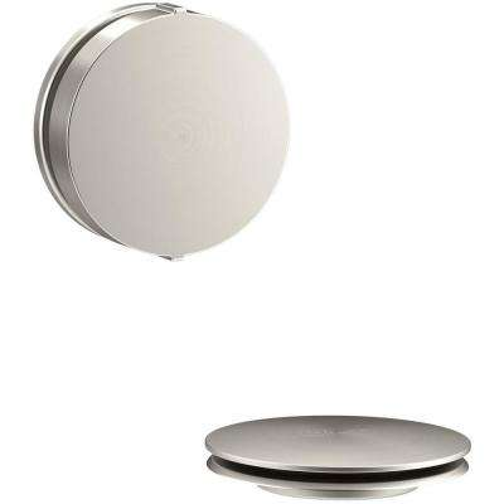PureFlo Contemporary Rotary Turn Bath Drain Trim, Vibrant Brushed Nickel