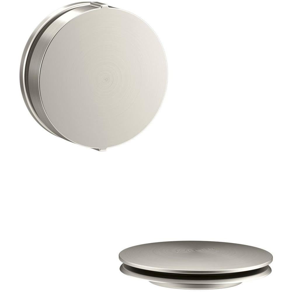 PureFlo Contemporary Rotary Turn Bath Drain Trim, Vibrant Brushed Nickel