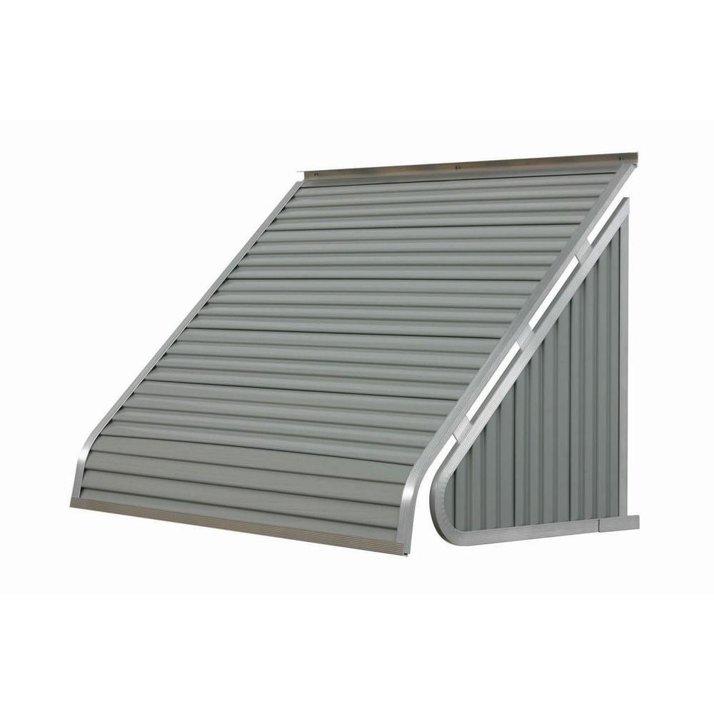 NuImage Awnings 5 ft. 3500 Series Aluminum Window Awning (24 in. H x 20 in. D) in Almond