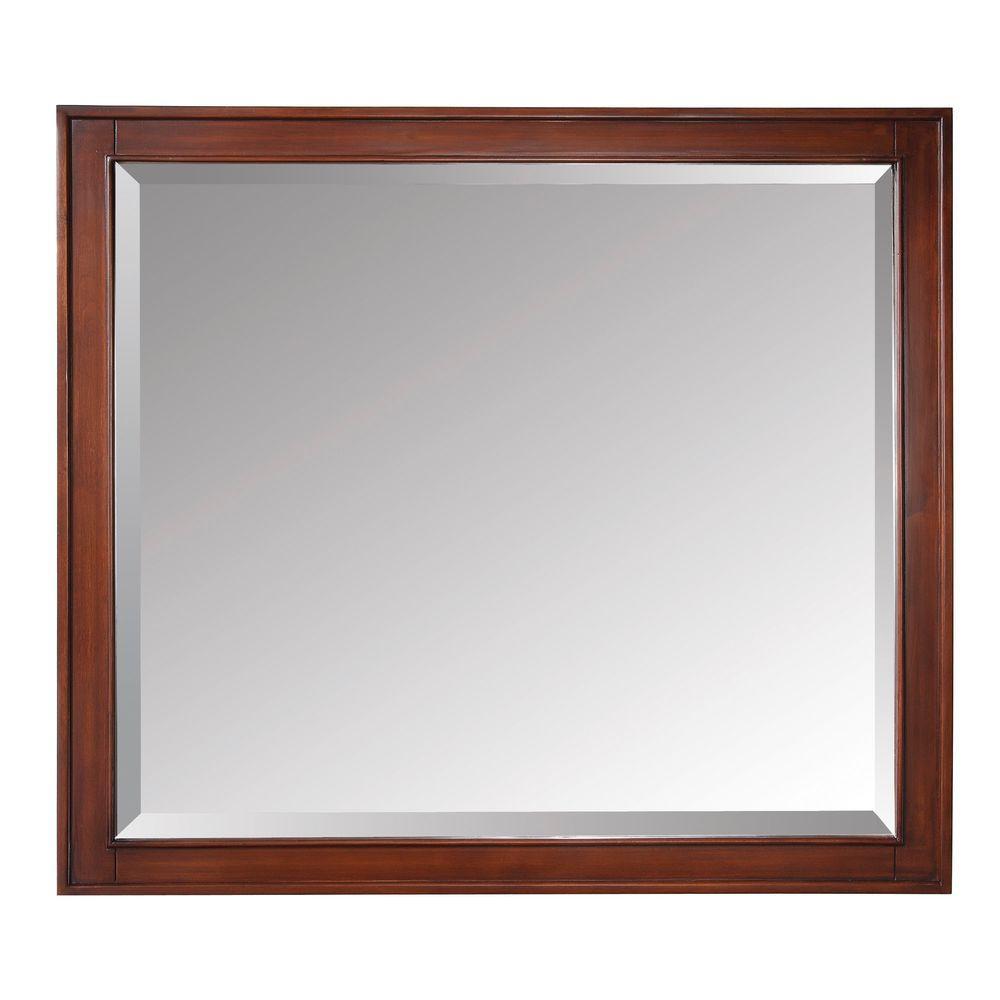 Avanity Madison 36 inch x 32 inch Beveled Edge Mirror in Tobacco by Avanity