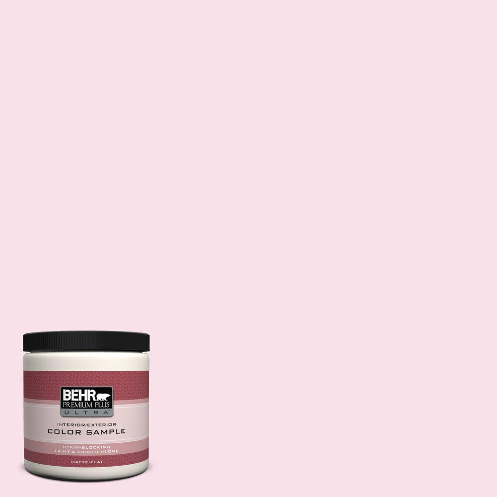 BEHR Premium Plus Ultra 8 oz. #110A-2 Poetic Princess Flat Interior/Exterior Paint and Primer in One Sample