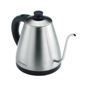 4-Cup Gooseneck Stainless Steel Electric Kettle with Temperature Control
