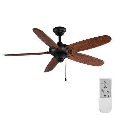 Altura 48 in. Matte Black Wi-Fi Enabled Smart Ceiling Fan with Remote Control Works with Google Assistant and Alexa