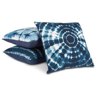 Assorted Indigo Ink Pillows (Set of 3)