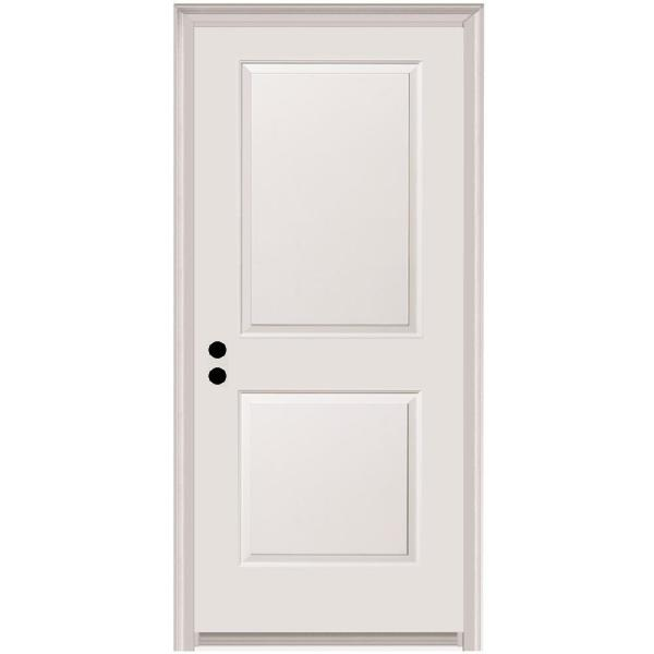 MMI Door 32 in. x 80 in. Carrara Right-Hand Primed Composite 20 Min. Fire-Rated House-to-Garage