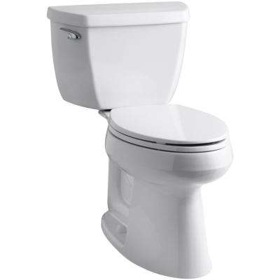 Highline 2-Piece Complete Solution 1.28 GPF Single Flush Elongated Toilet in White with Seat Included (3-Pack)