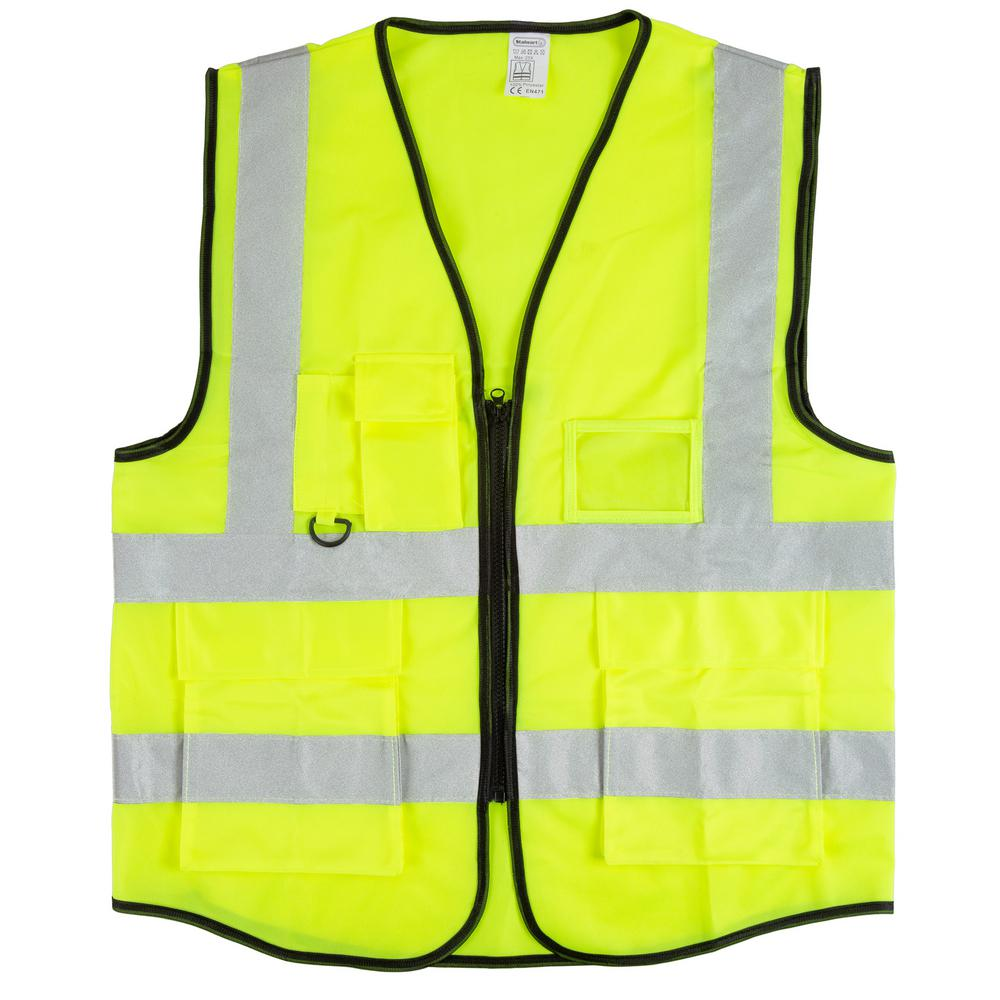 Stalwart Large/X-Large Fluorescent Green Polyester High Visibility Reflective Safety Vest