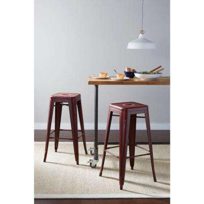 Bristow 30.25 in. Antique Red Bar Stool (Set of 4)