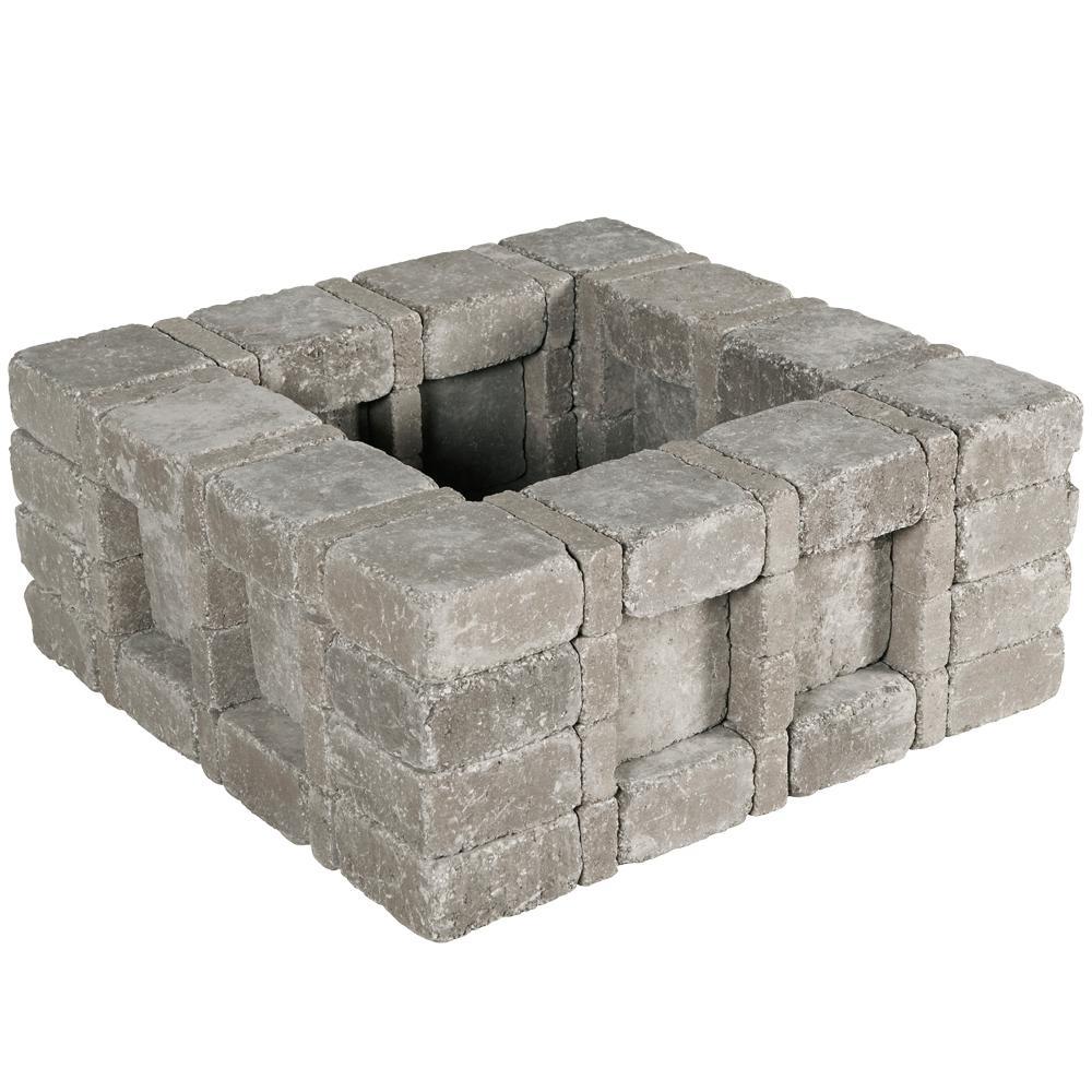 Pavestone Rumblestone RumbleStone 33 in. x 14 in. x 33 in. Square Concrete Planter Kit in Greystone