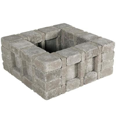 RumbleStone 33 in. x 14 in. x 33 in. Square Concrete Planter Kit in Greystone
