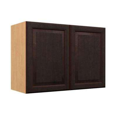 Ready to Assemble 30x21x12 in. Ancona Wall Cabinet with 2 Soft Close Doors in Mocha