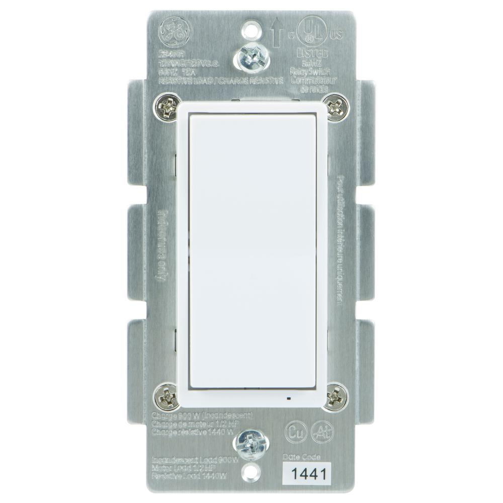 GE Zigbee In-Wall Energy Monitoring Smart Switch-45856GE - The Home ...