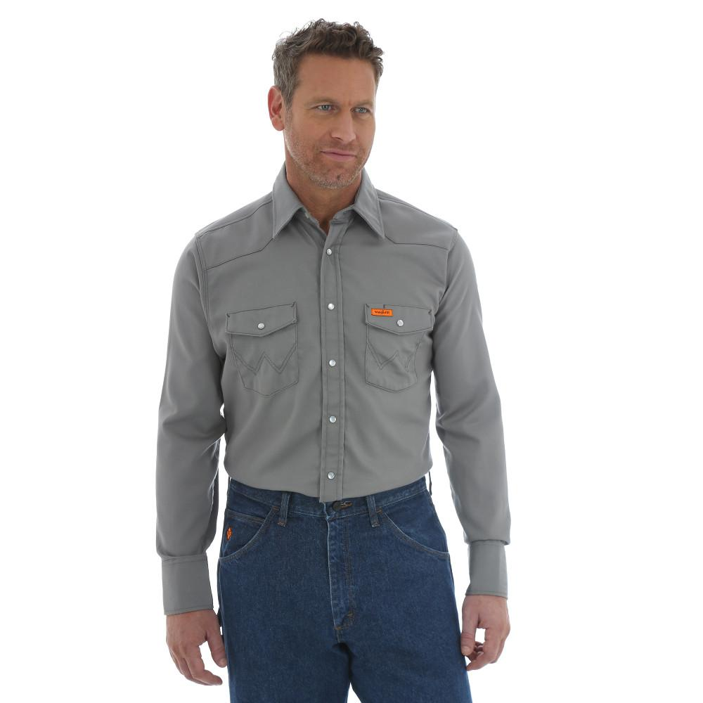 Wrangler RIGGS Workwear Men s Size 2X-Large Charcoal Western Shirt ... cdee8003d