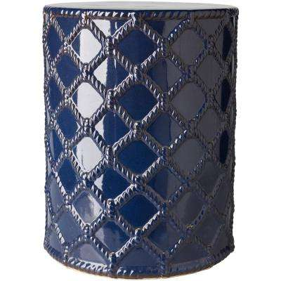 Acku Garden Stool in Navy
