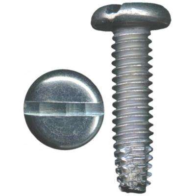 #10 x 1/2 in. Zinc-Plated Pan-Head Slotted Drive Sheet Type F Tip Metal Screw (5-Pieces)