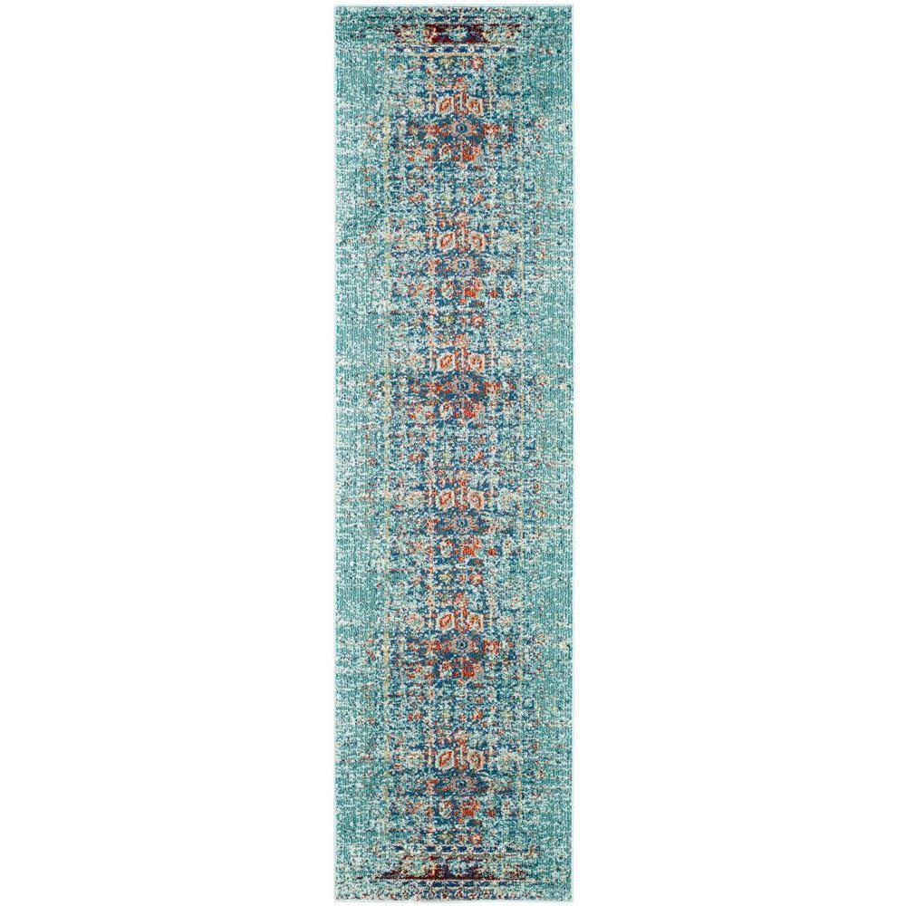 Safavieh Monaco Blue/Multi 2 ft. 2 in. x 14 ft. Runner