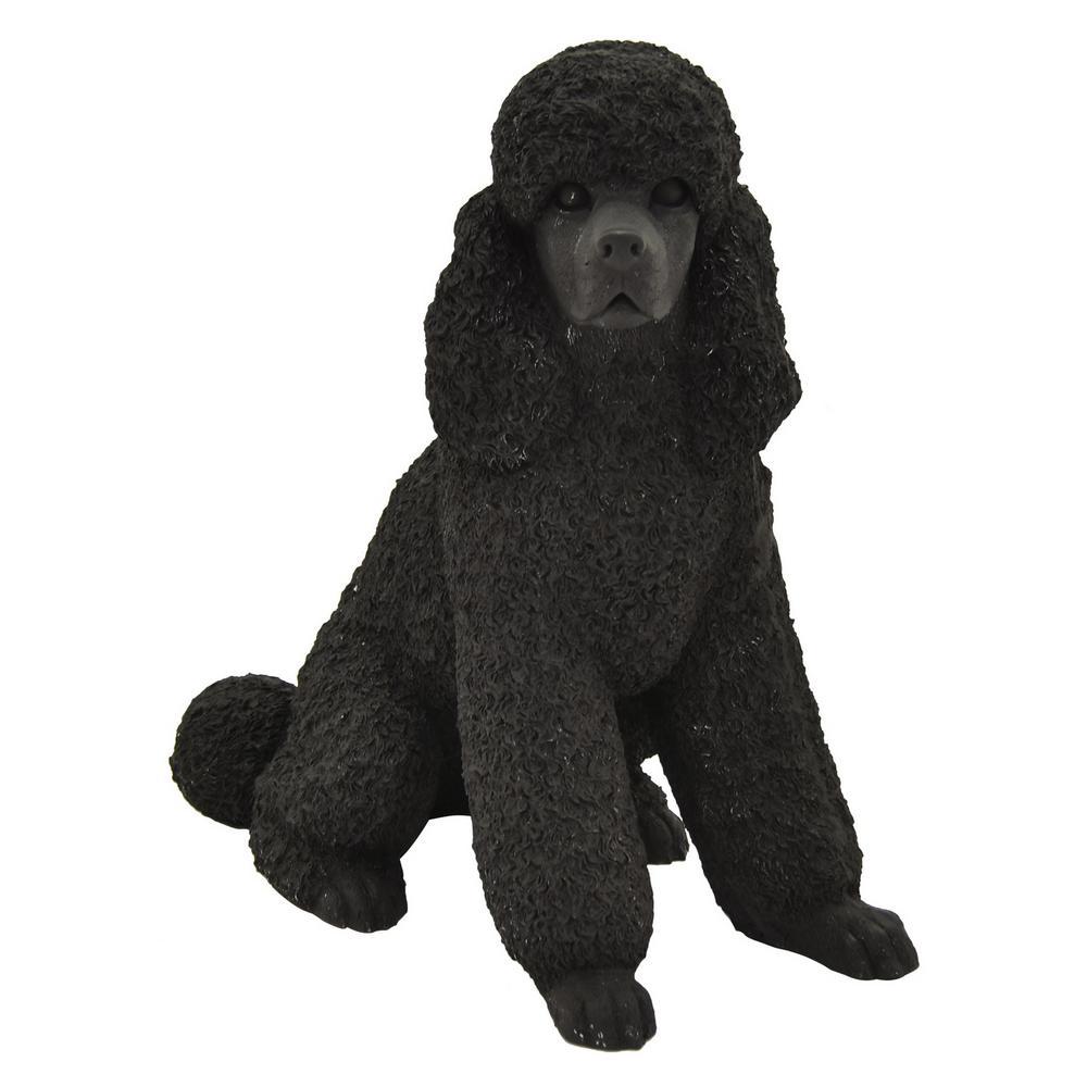 15.75 in. Black Dog Sitting (Poodle)