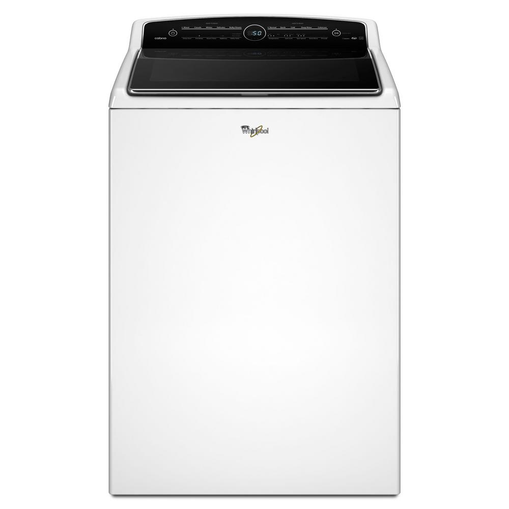 whirlpool 5 3 cu ft high efficiency white top load washing machine with colorlast and. Black Bedroom Furniture Sets. Home Design Ideas
