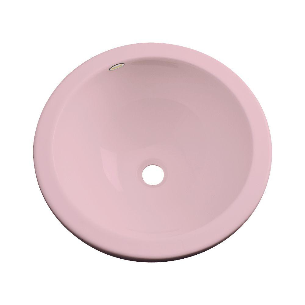 Thermocast Calio Undermount Bathroom Sink in Dusty Rose