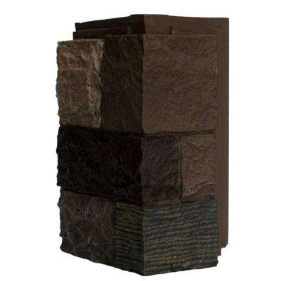 Castle Rock Tuscan Brown 11 in. x 7 in. Faux Stone Siding Corner (4-Pack)