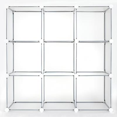 Clear Frost Stackable 9 Cube Organizer