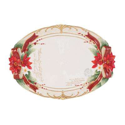 13 in. Cardinal Christmas Serving Platter
