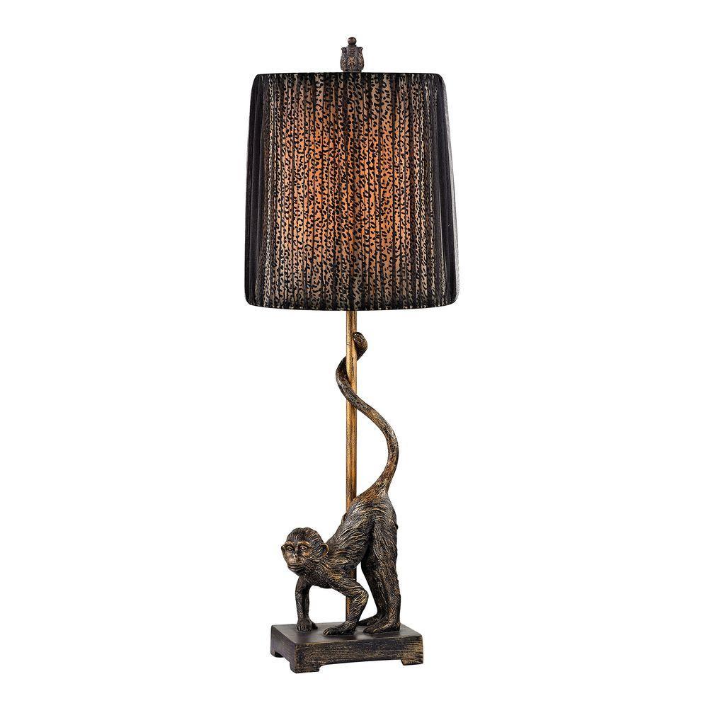 Aston 26 in. Monkey Bronze Table Lamp