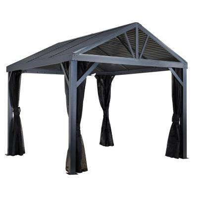 12 ft. D x 12 ft. W South Beach I Aluminum Gazebo with Corrosion-Resistant, Galvanized Steel Roof Panels