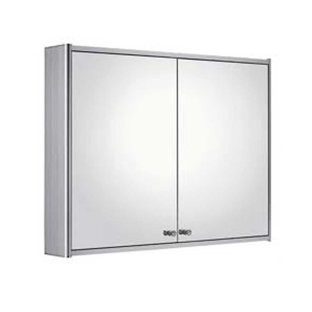 Medicinehaus 31-1/2 in. W x 23-5/8 in. H x 5-1/8 in. D Frameless Aluminum Surface-Mount 2-Door Bathroom Medicine Cabinet