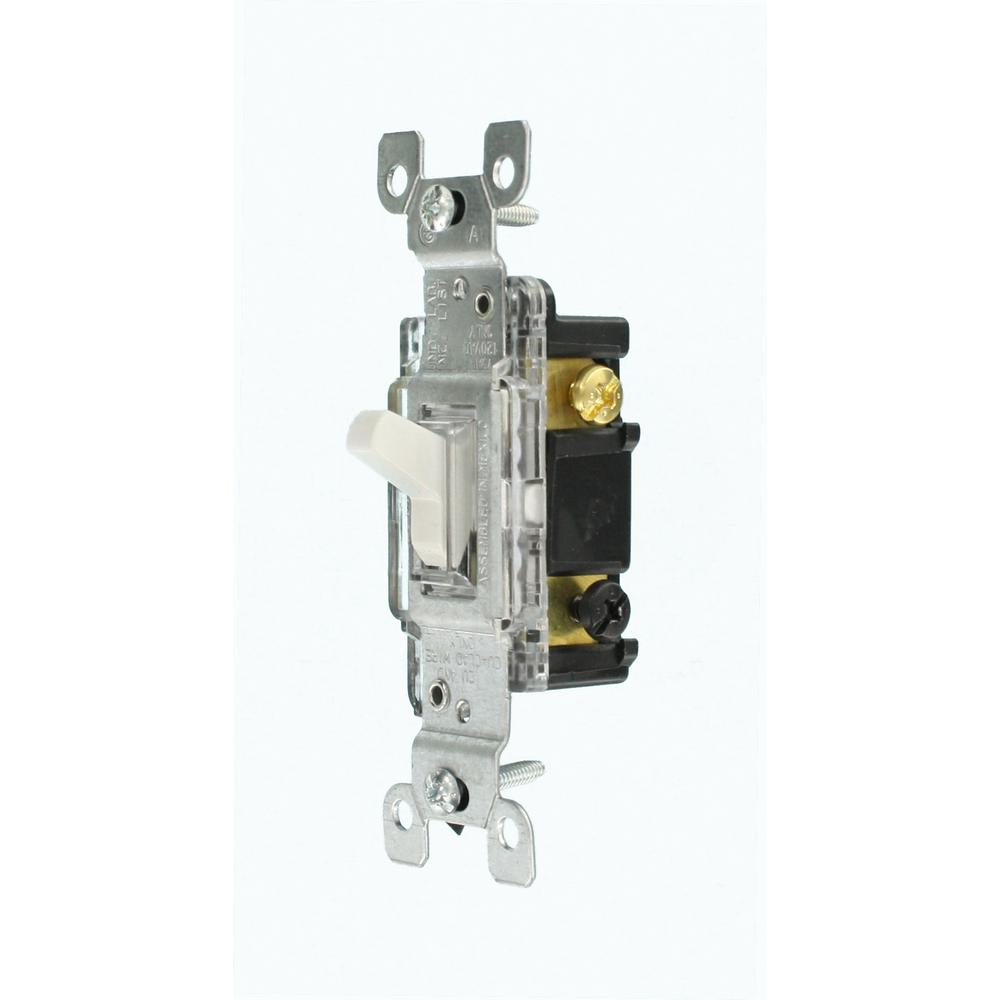 Leviton 15 Amp Residential Grade 3-Way Lighted Toggle Swi...