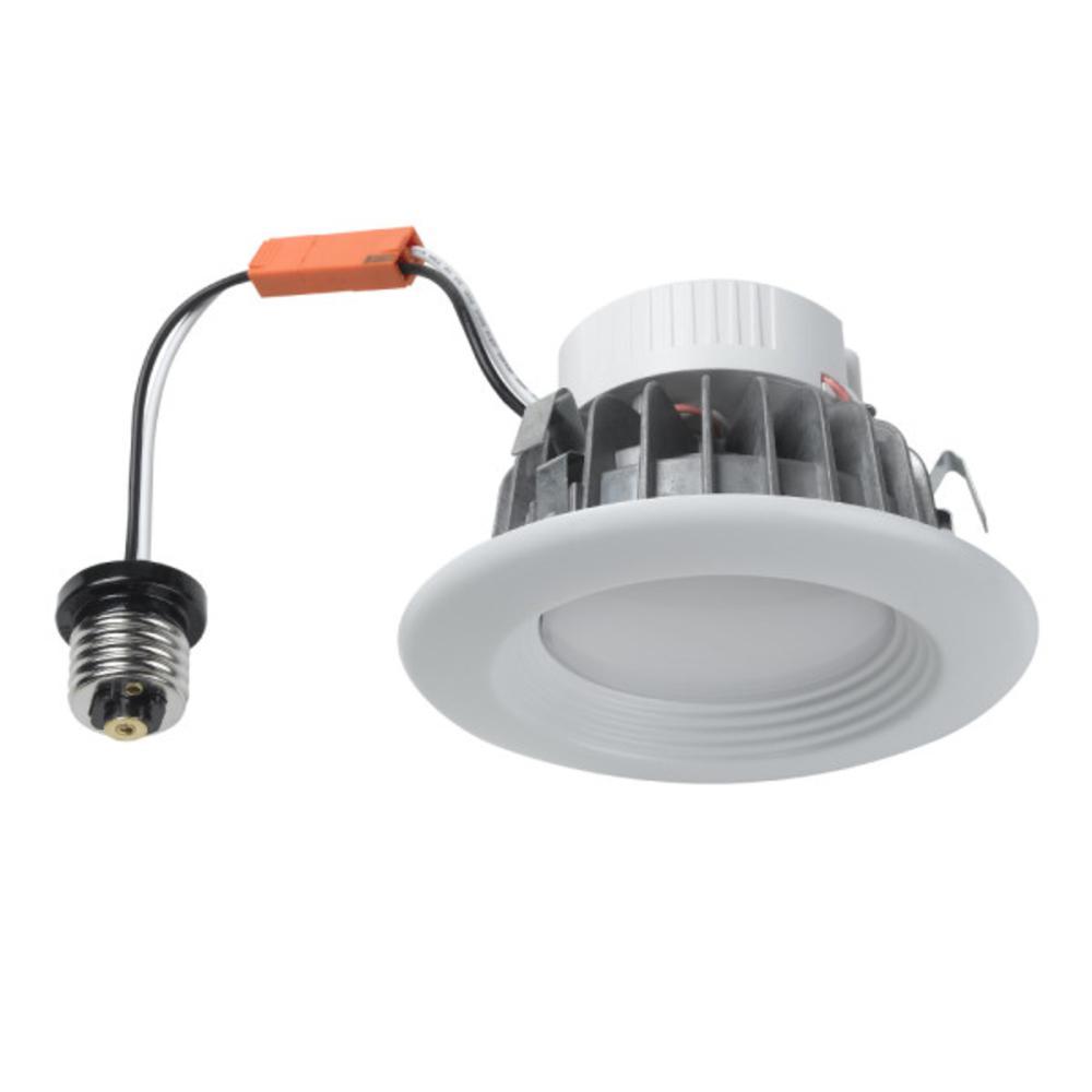 50-Watt Equivalent 4 in. 3000K Warm White Recessed Baffled LED Downlight kit
