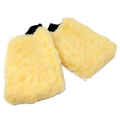 American-Made Premium Synthetic Wool Car Polishing Wash Mitts (2-Pack)