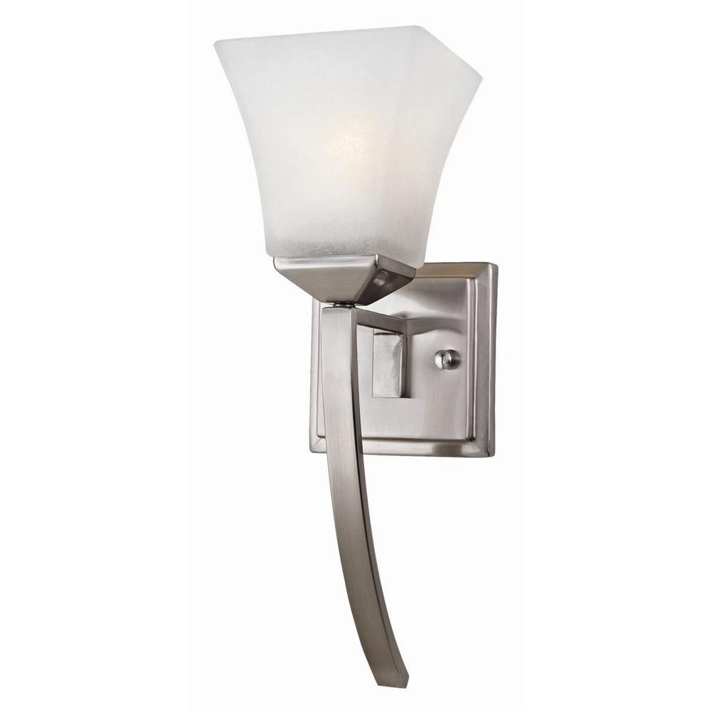 Design House Torino 1-Light Satin Nickel Extended Wall Mount Sconce