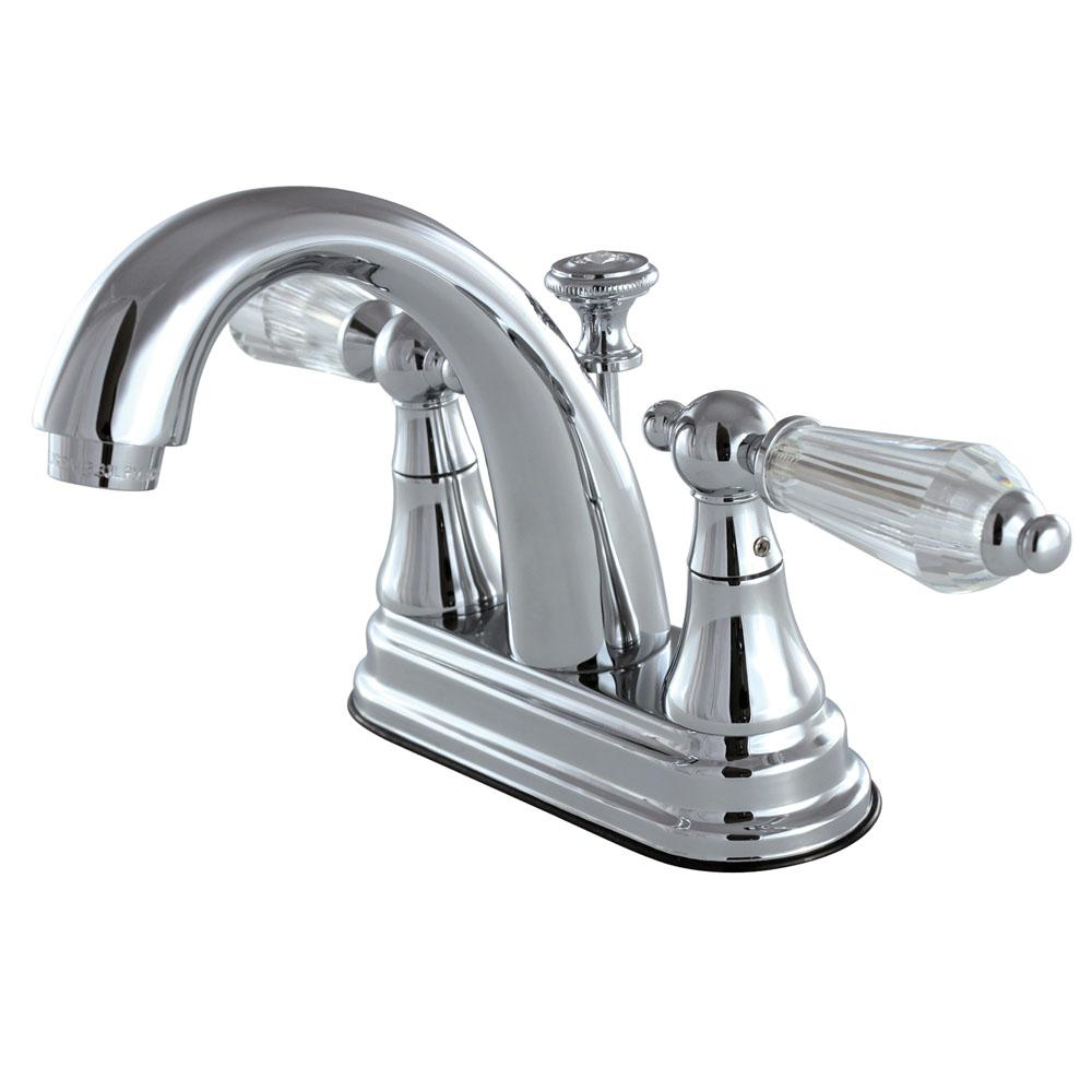 English Crystal 4 in. Centerset 2-Handle Bathroom Faucet in Chrome