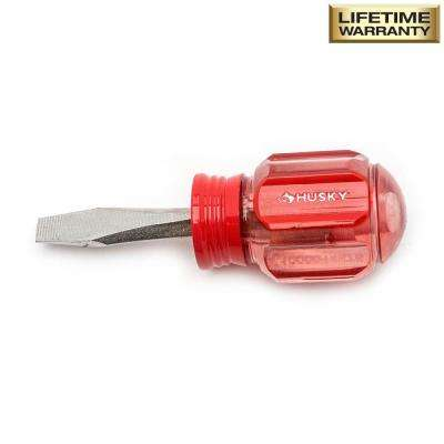 1/4 in. x 1-1/2 in. Square Shaft Stubby Slotted Screwdriver