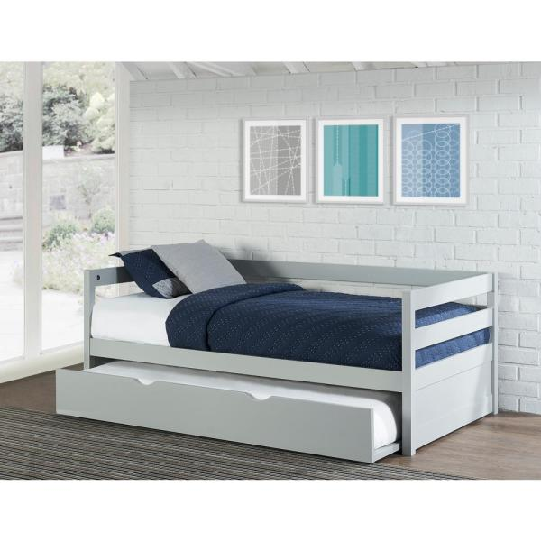 Hillsdale Furniture Caspian Gray Twin Daybed with Trundle 2177-010