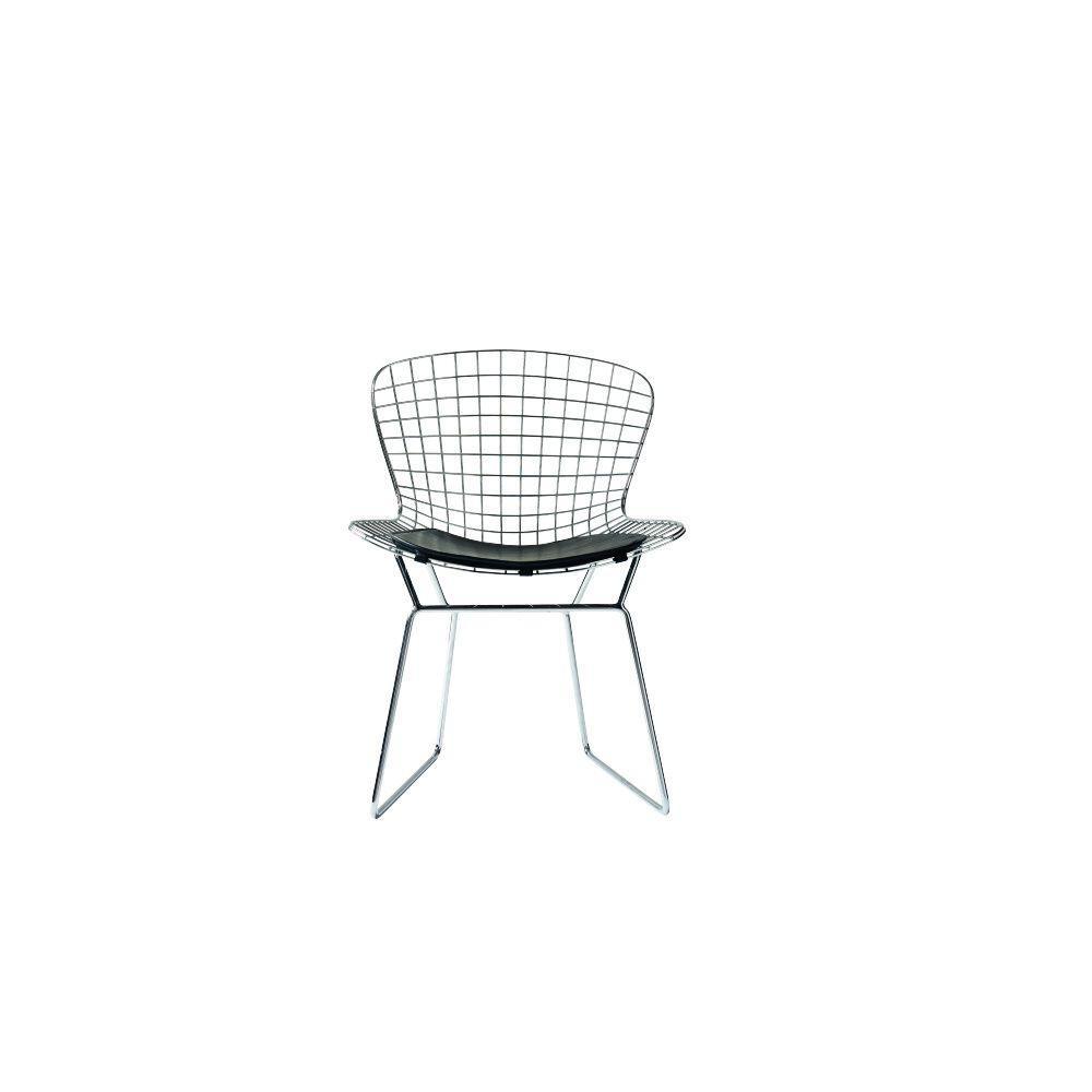 James Chrome Metal Side Chair