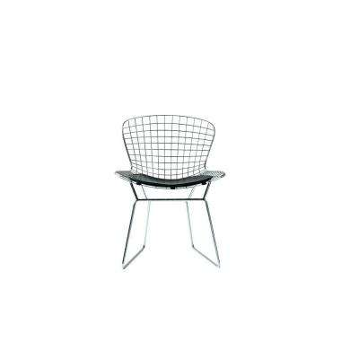 James Chrome Metal Side Chair