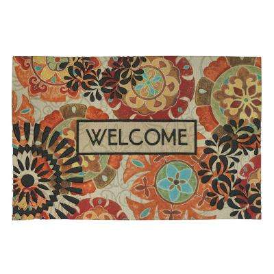 Floral Mix Welcome Multi 18 in. x 30 in. Door Mat