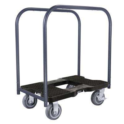 1,800 lbs. Capacity Super-Duty Professional Metal Panel Cart Dolly in Black