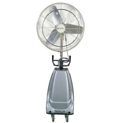 30 in. 3-Speed Portable and Oscillating High Pressure Misting Fan with 16 Gal. Water Tank