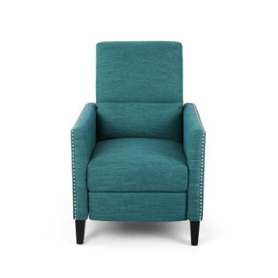 Alscot Teal Push-Back Recline Upholstered Recliner